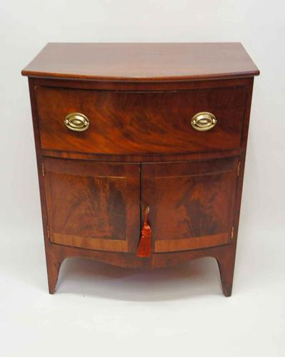 Small Georgian Inlaid Mahogany Cupboard - Converted Commode (1 of 12)