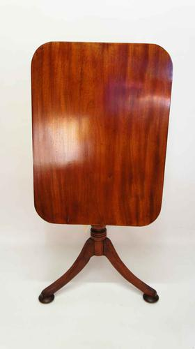 Late Georgian Tilt Top,  Mahogany Occasional or Wine Table (1 of 14)