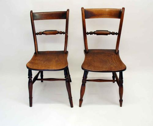 Near Pair of Victorian Scroll Back Oxford Chairs in Ash / Elm (1 of 11)