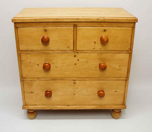 Victorian  Pine Chest of Drawers 2 Over 2  Refurbished (1 of 20)