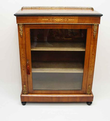 Victorian Inlaid Walnut Pier  or Display Cabinet with Ormolu Mounts (1 of 18)