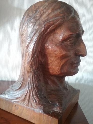 Native American Indian Wooden Carving (1 of 4)