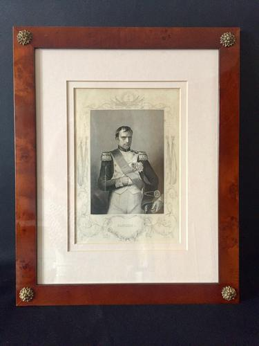 Napoleon Portrait Engraving Etching Framed after Count D'Orsay c.1850 (1 of 6)