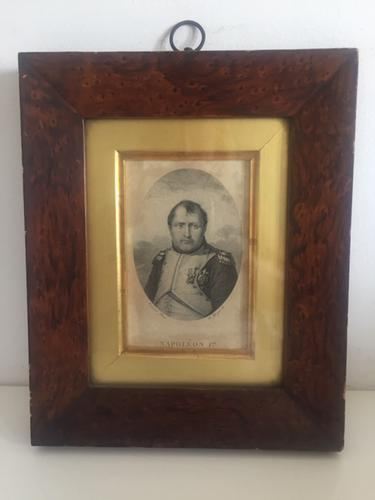 Etching of Napoleon c.1804-1821 in Hardwood Frame with Old Label Verso (1 of 5)