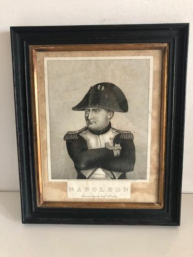 Napoleon Bonaparte Engraving after Louis Lacoste 1774-1837 c.1815, Framed (1 of 5)