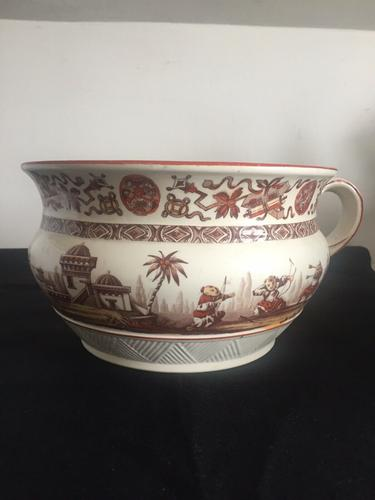 "Antique Chamber Pot Ridgeway Sparks ""Yeddo"" Pattern 1878 (1 of 7)"