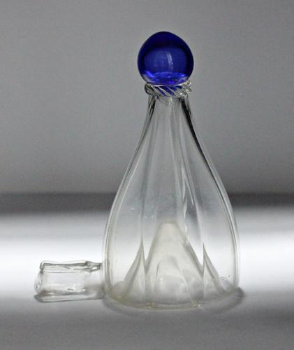 Victorian Bird Feeder, Blue Glass Finial (1 of 3)