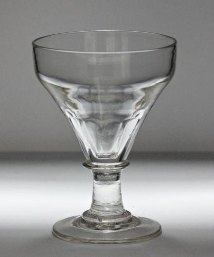 Georgian Hand-Blown Ogee Bowl Rummer Glass (1 of 3)