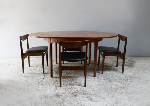 1970'S Mid Century Extending Dining Table and 4 Chairs (1 of 8)