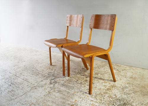 1960s Scandinavian Mid Century Plywood Stacking Chair '30 Available' (1 of 4)
