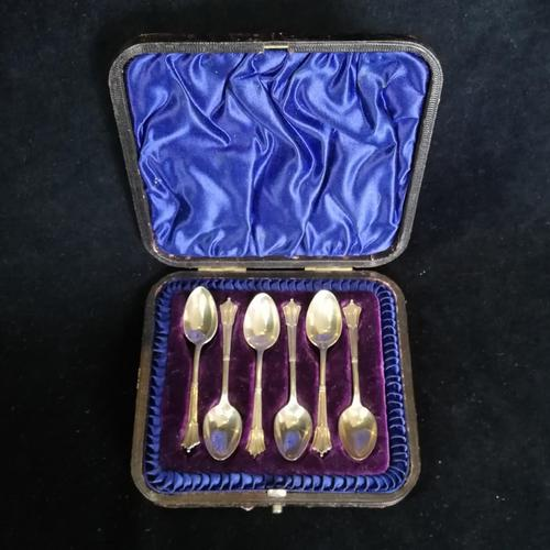 Boxed Set of Antique Silver Spoons 1895 by Henry Harrison (1 of 6)