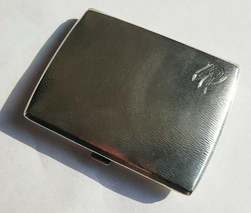 Rare Beautiful Austrian Export Solid Silver Bark Effect Cigarette / Card Case c.1900 (1 of 11)
