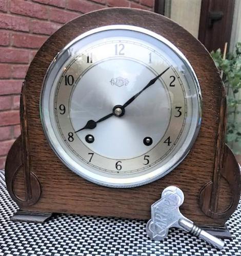 Wonderful 1940s English Striking Mantel Clock by Garrard (1 of 7)