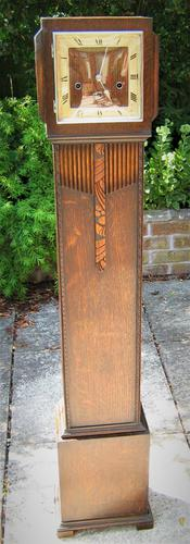 Scarce and Exquisite  'Art Deco' German Westminster Chiming Granddaughter Clock by Haller (1 of 8)
