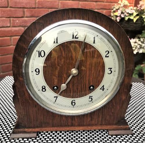 Superb Mid-1940s English Striking Mantel Clock by Garrard (1 of 8)