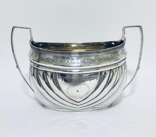Antique Georgian Solid Silver Sugar Basin Bowl (1 of 12)