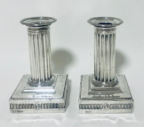 Pair of Antique Victorian Silver Candlesticks (1 of 15)