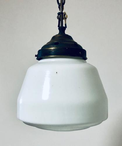Opaline Glass Pendant Light c.1930 (1 of 11)