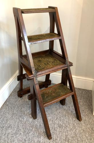 Antique Victorian Mahogany Metamorphic Library Step Chair (1 of 15)