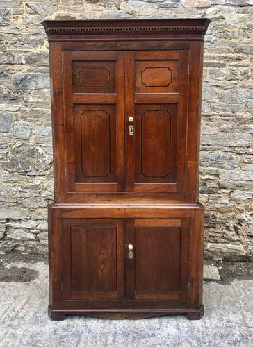 Large Georgian Oak Floorstanding Corner Cupboard (1 of 25)