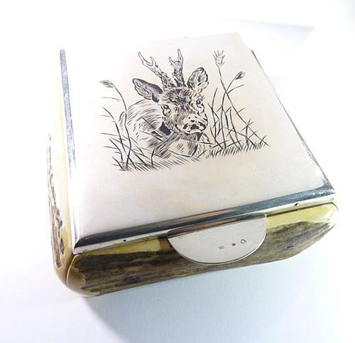 Silver & Niello Table Snuff 1930 (1 of 5)