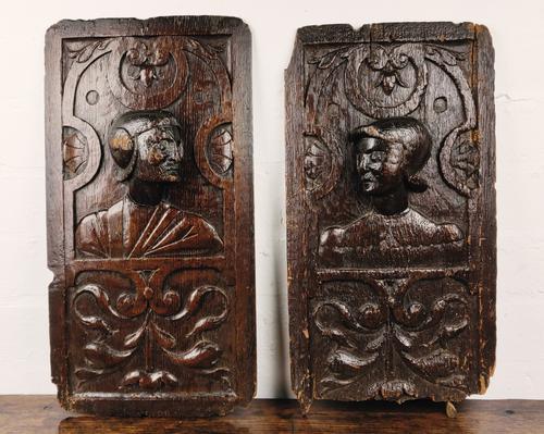 Fine Pair of 16th Century Romayne Panels (1 of 7)