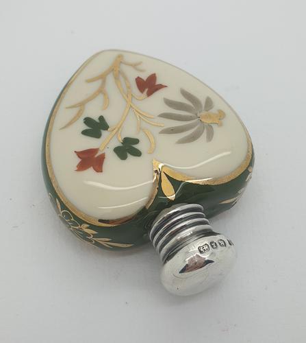 Silver Lid Ceramic Perfume Bottle (1 of 4)