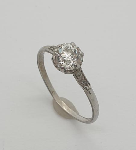 18ct Wg 1ct Solitaire Diamond (1 of 5)