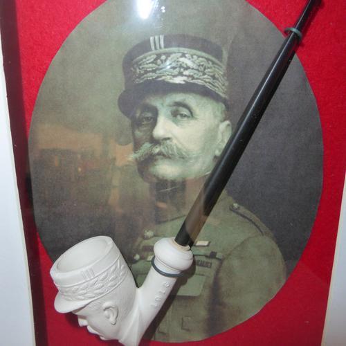 WW1 Framed Marshall Foch WW1 Clay Pipe (1 of 2)
