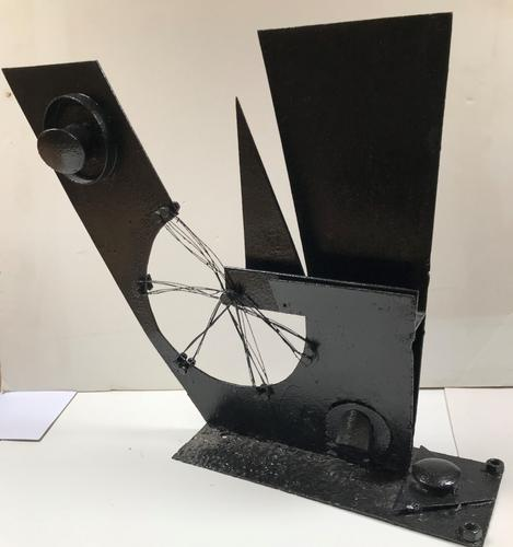 Original Iron Sculpture 'Industry' by Hector Macdonald Sutton 1903-1995. Painted Black. 1951 (1 of 7)