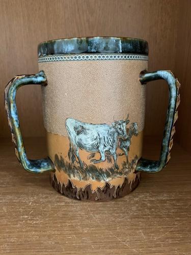 Doulton Lambeth Hannah Barlow Rare 3 Handled Cattle TYG (1 of 4)