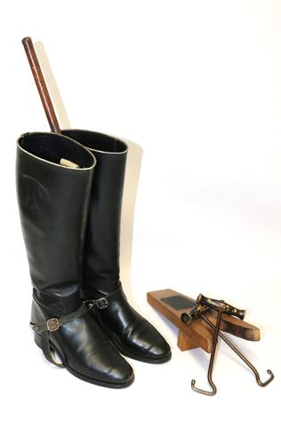 Pair of Leather Riding Boots Early 20th Century (1 of 10)