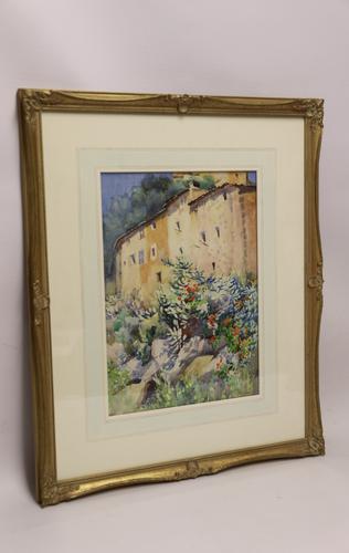 Charming Watercolour of a Corfu Scene by Edith E Caswall c.1920 (1 of 8)