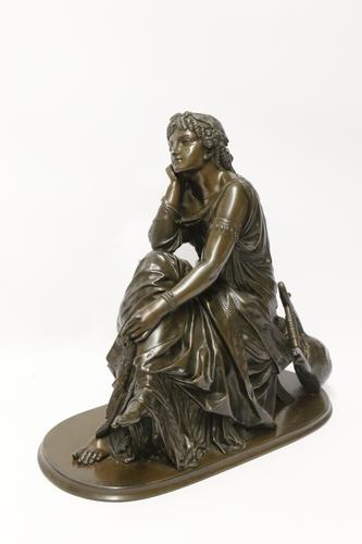 Superb Mid 19th Century French Classical Bronze of Euterpe by Pierre Alexander Schoenewerk (1 of 25)