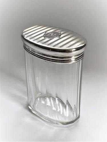 Gorgeous Silver & Cut Glass Vanity Jar (1 of 5)