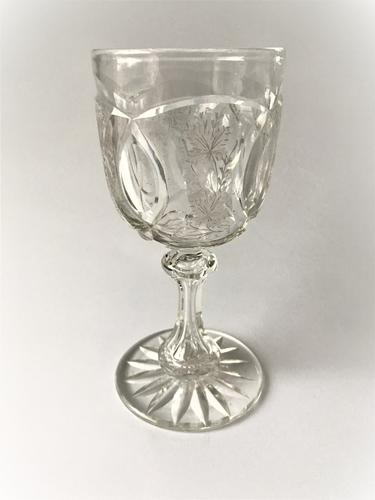 Fabulous Victorian Cut & Etched Goblet (1 of 6)