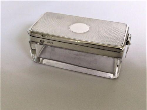 Unusual Silver Mounted Travelling Cufflinks / Studs Box (1 of 8)