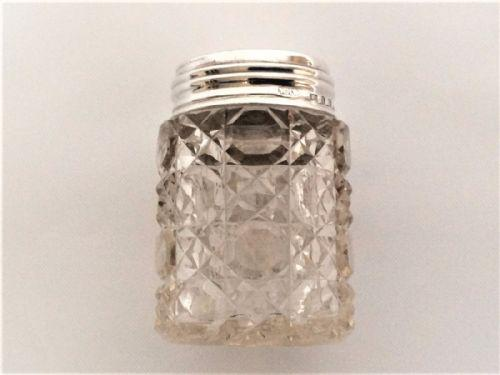 Lovely Victorian Silver Mounted Dressing Table Jar (1 of 8)