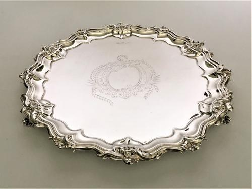 Fabulous Victorian Cast Silver Salver (1 of 8)