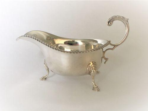 Good Quality Silver Gravy Boat (1 of 6)