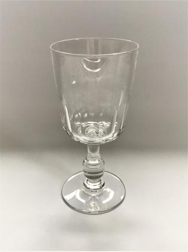 Charming French Slice Cut Wine Goblet C.1920 (1 of 4)