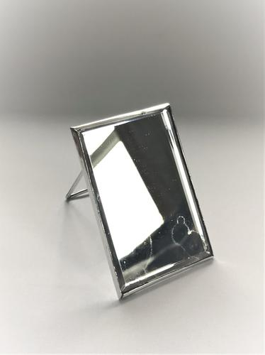 Unusual Silver Travelling Shaving Mirror (1 of 6)
