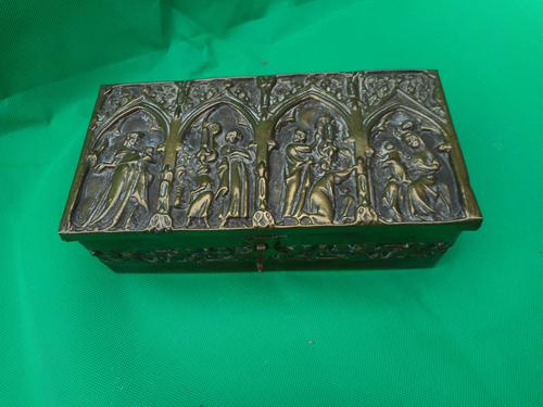 Brass Gothic Revival Casket (1 of 5)