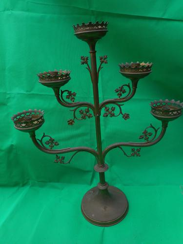 Three Tier Brass Candle Holder (1 of 4)