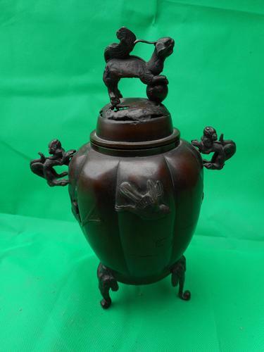 Japanese Bronze Koro (1 of 6)
