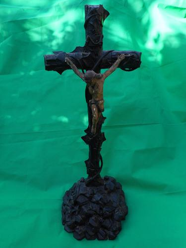 Large Carved Wooden Crucifix (1 of 6)