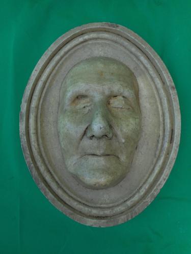 Ceramic Death Mask Plaque (1 of 2)