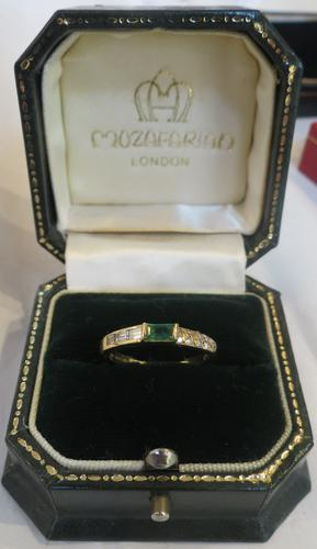 Mozafarian - Vintage Emerald, Diamond and 18ct Gold Ring - 1973 (1 of 14)