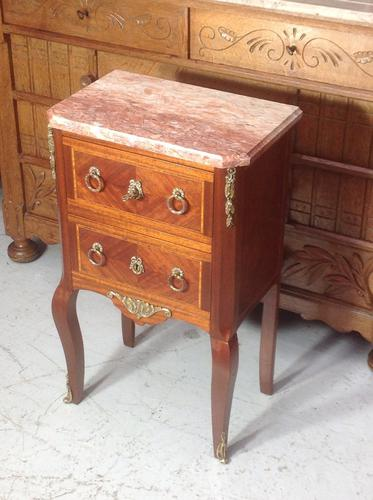 French Marble Top Inlaid Chest (1 of 12)