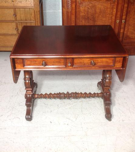 Mahogany French Sofa Table c.1880 (1 of 9)